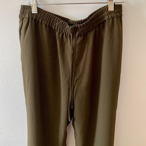 Dressy Joggers!! In a Medium, olive color